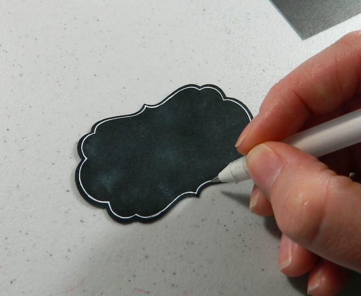 #Howto make chalkboard art embellishments. Really simple tutorial and looks way cute!