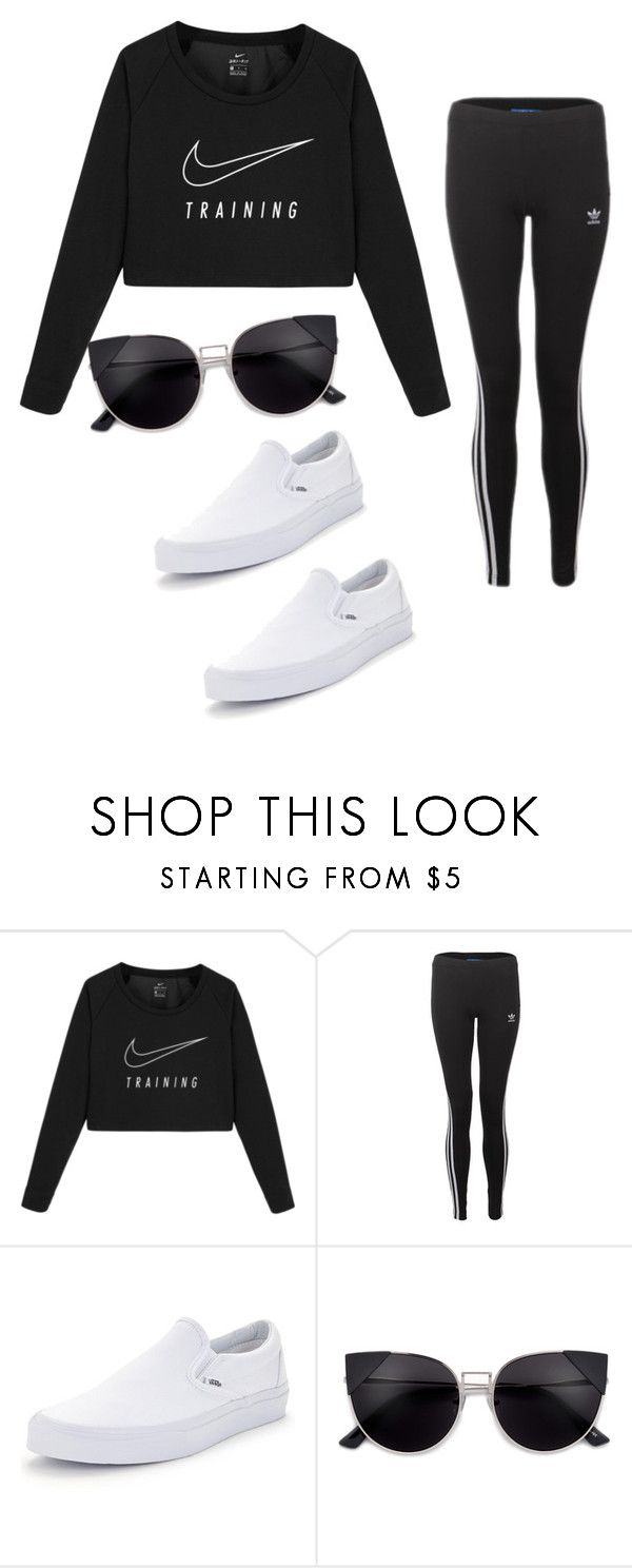 """""""."""" by valeria-arcos on Polyvore featuring NIKE and Vans"""