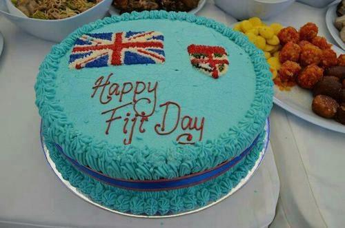 Fiji Flag cake baked for Fiji's Independence Day