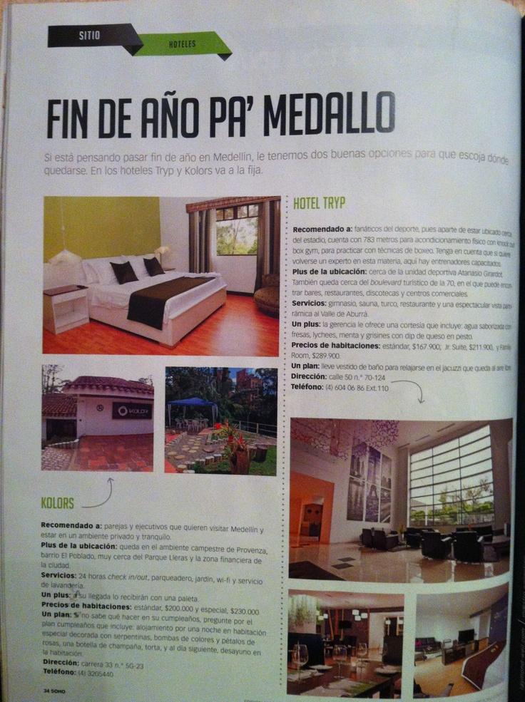 Kolor Hotel Boutique en la edición de diciembre de la revista Soho