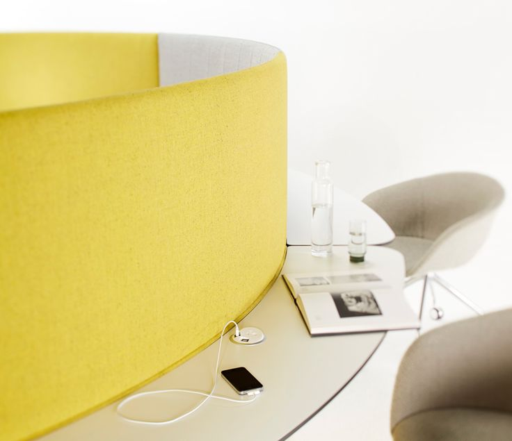 The Bloom Collection by Stylecraft uses Elsafe's Pixel to create a bright multi purpose breakout area that keeps people connected in style and comfort. See more at http://elsafe.com.au/en/stylecraft #furniture #breakout #stylecraft #yellow #pixel