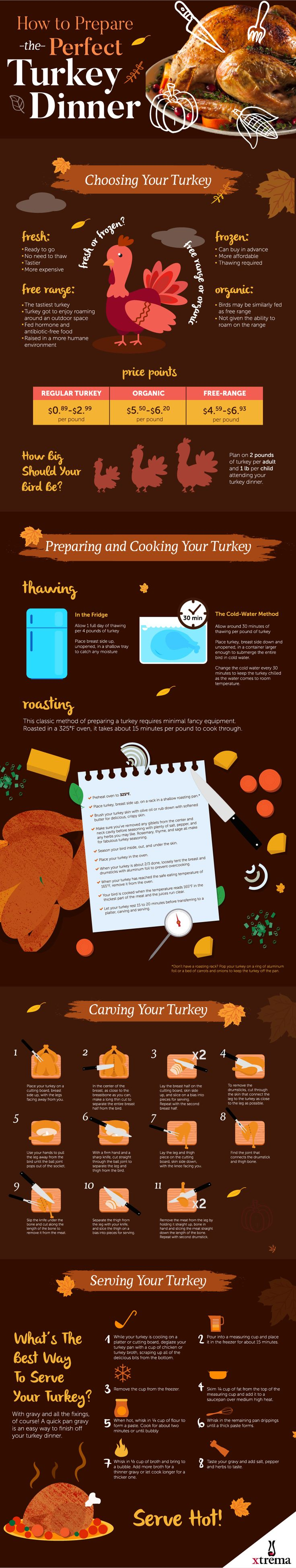 How to Prepare the Perfect Turkey Dinner Infographic