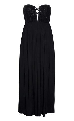 Kat Black Sequin Maxi Dress $74.95  www.littlepartydress.com.au