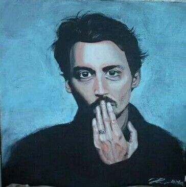 Johnny Depp portrait, acrylic on canvas by ARTEILA