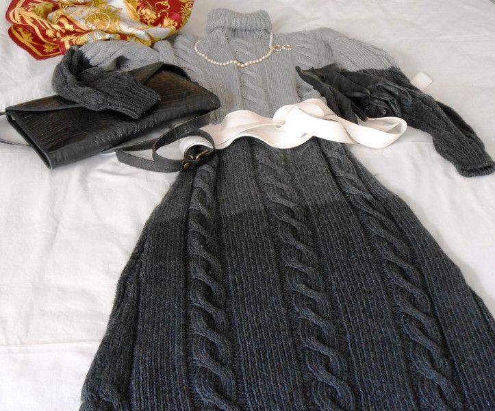 Abiti in lana - Abiti a maglia su misura, vestito in lana a trecce - un prodotto unico di cosediisa su DaWanda