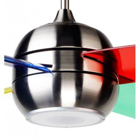 Ventilateur de plafond pour enfant moderne avec enceinte bleutooth