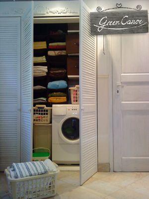 schowki w łazience, zabudowa pralki, storage in the bathroom, washing machine building