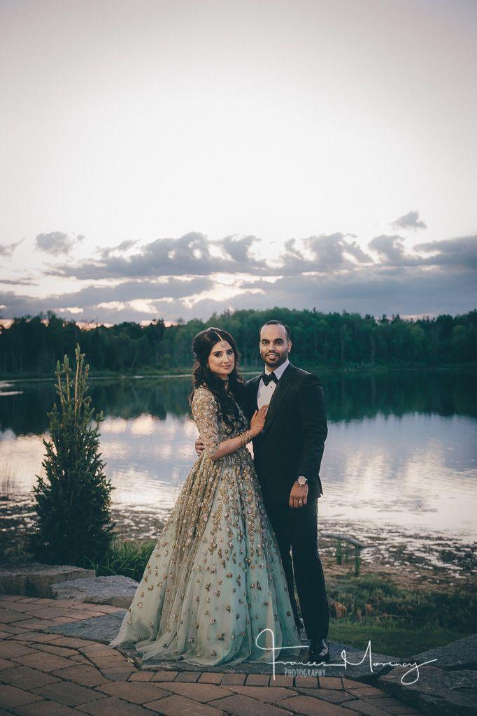 seafoam green evening gown for brides reception dress at toronto venue