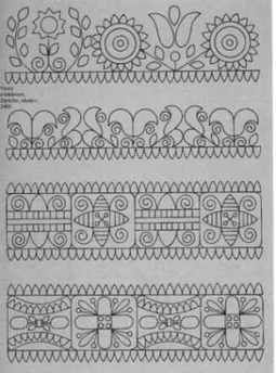 Slovak Embroidery Patterns | Slovak Folk Embroidery Antique Costume Kroj Needlework Cross Stitch ...