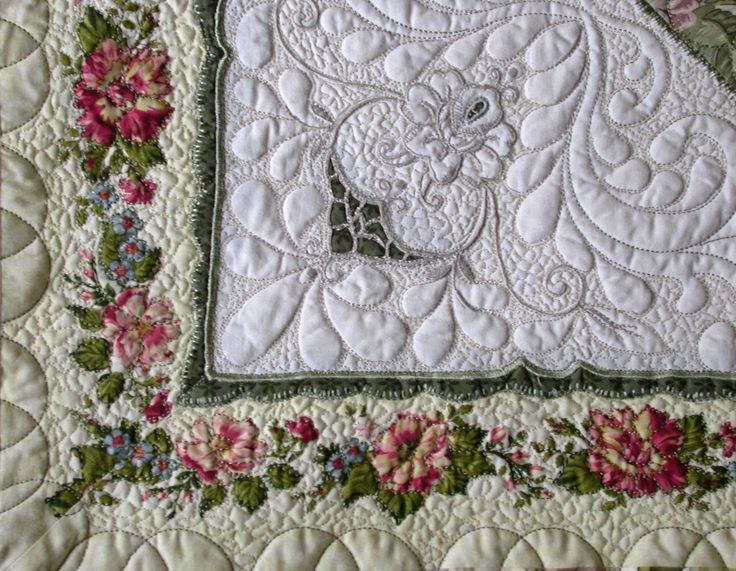 quilting with vintage linens lase