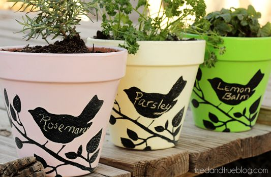 Make Sweet pots for your porch tutorial and 45 BEST Shabby Lifestyle Decor & Accessory DIY Tutorials EVER!! From MrsPollyRogers.com