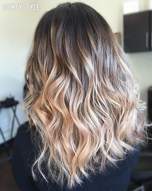Blonde sombré in 1 session by our stylist @dickeystyles 💕 #lajollalocals #sandiegoconnection #sdlocals - posted by La Jolla Salon  https://www.instagram.com/demarchesalon. See more post on La Jolla at http://LaJollaLocals.com