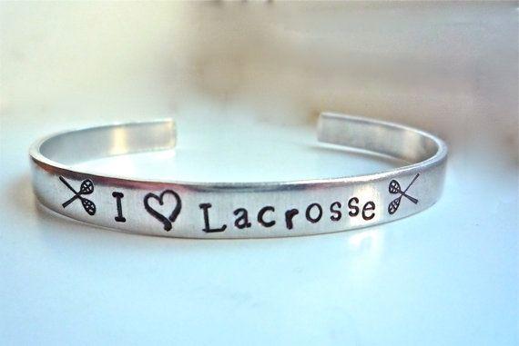 Lacrosse Jewelry Team Sports Bracelets  Lacrosse by TheSilverSwing, $22.00