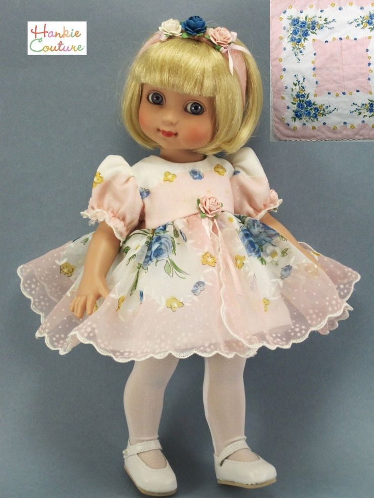 Dress created from a vintage nylon hankie