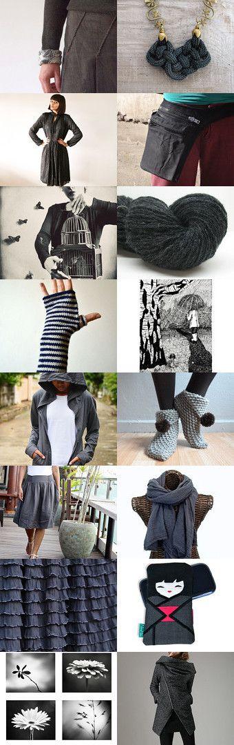 Dark Grey and Black by Jana on Etsy--Pinned with TreasuryPin.com