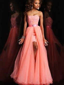 A-Line/Princess Sleeveless Strapless Tulle Floor-Length Applique Dresses