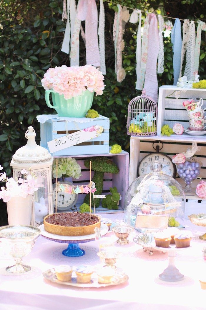 Shabby Chic Alice in Wonderland Baby Shower