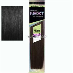 "Premium Next Natural Perm Yaki 10"" - Color 1 - Human Weaving"