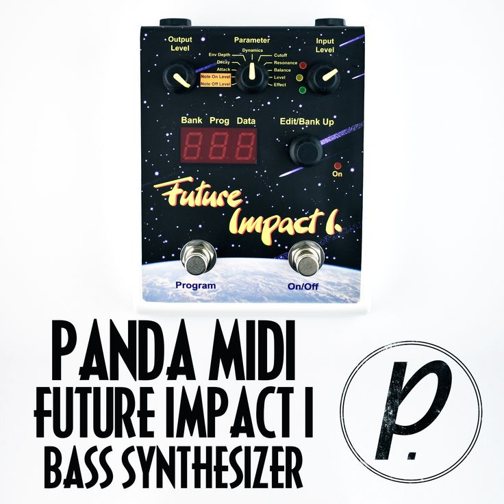 The Future Impact I from PandaMIDI is able to reproduce all the nine original bass synth sounds of the highly reputed Akai Deep Impact pedal from the 1990s.