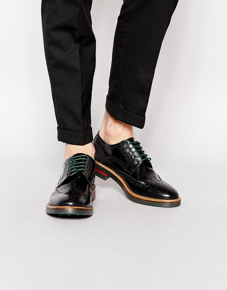 Base London Woburn Hi-Shine Leather Brogues