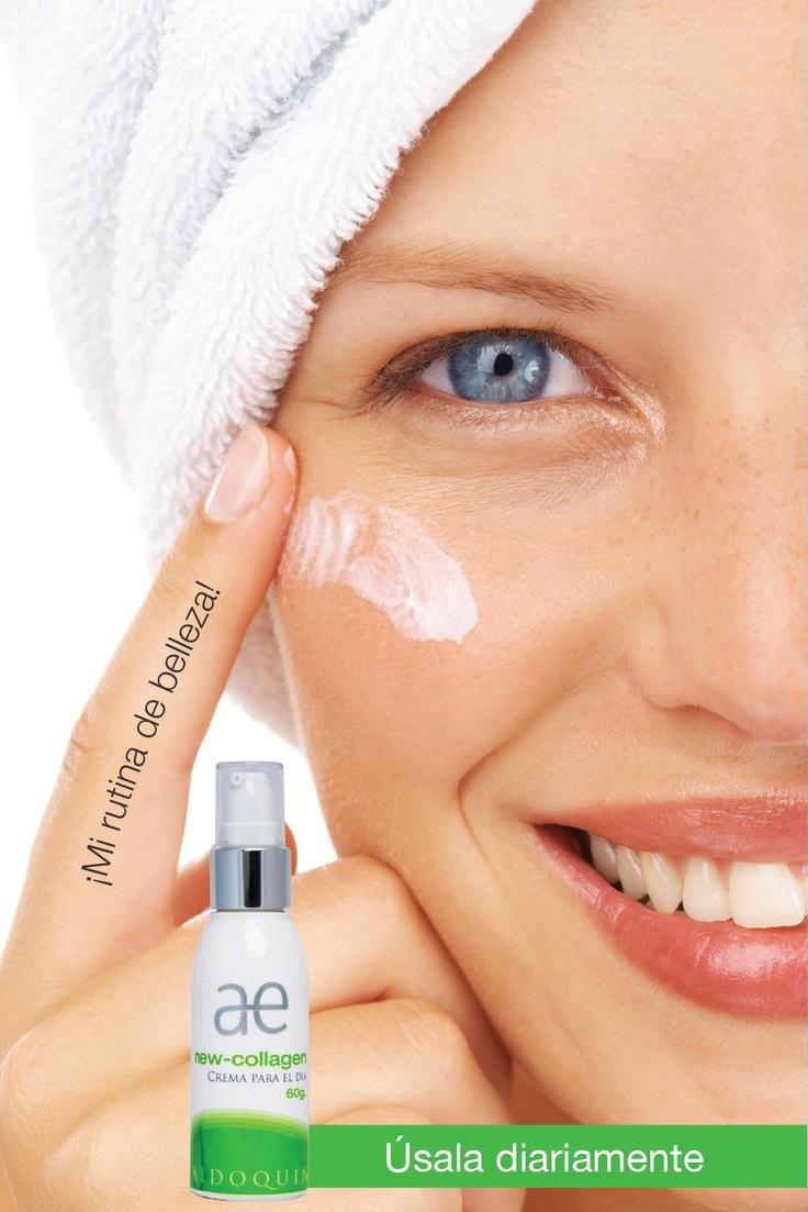 New Collagen® con biotecnología cosmetica, acelera el proceso de restauración de la piel, aumentando el espesor de la dermis y mejorando arrugas finas, cicatrices y flacidez.