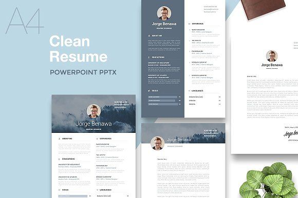 Resume 2.0 - A4 PowerPoint Format by PitchLabs.co on @creativemarket