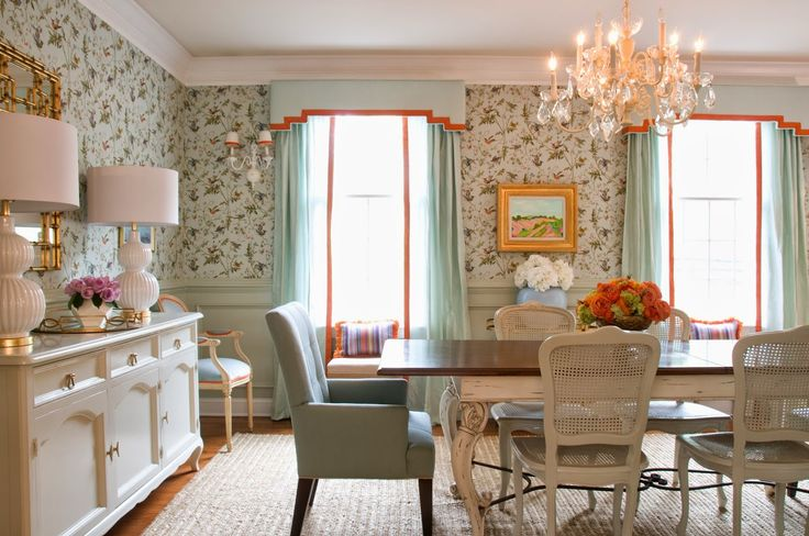 Stephanie Kraus Designs Blue And White Living Room A: 1000+ Ideas About Dining Room Wallpaper On Pinterest
