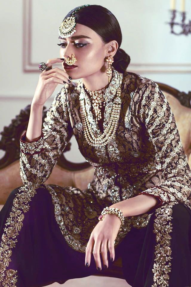 Maheen Karim's Jashann Bridal Collection featuring Sadaf Kanwal.