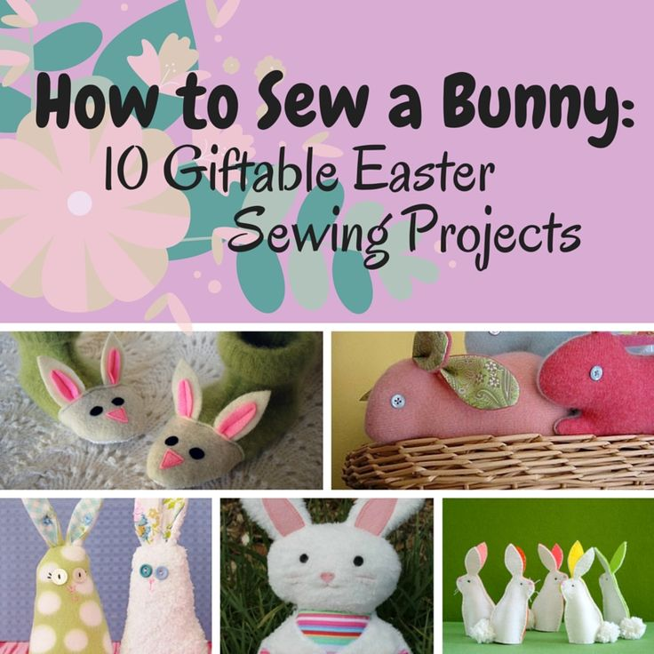 78 best easter sewing projects images on pinterest easter crafts how to sew a bunny 10 giftable easter sewing patterns seams and scissors negle Choice Image