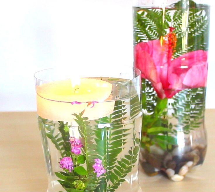 CENTROS DE MESA DIY * Jarron Flores sumergidas - CENTERPIECES DIY * Vase of flowers submerged