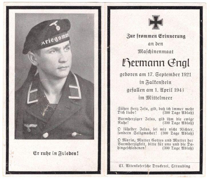 orig.STERBEBILD - DEATH CARD - Kriegsmarine - Mittelmeer - Konvoi Neapel Afrika