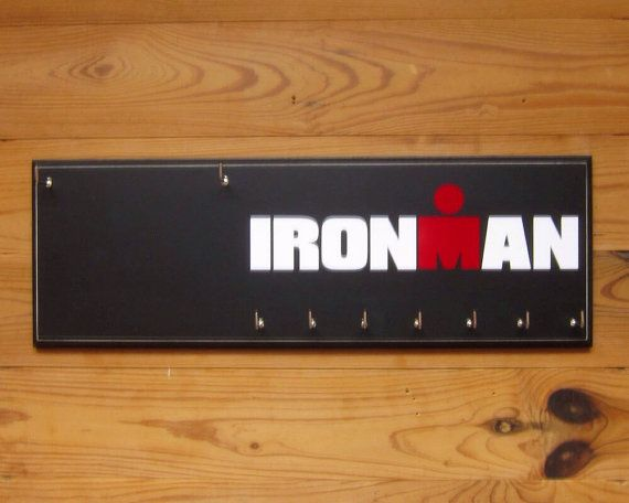 Triathlon Medal Holder  IRONMAN race bib by StrutYourStuffSignCo