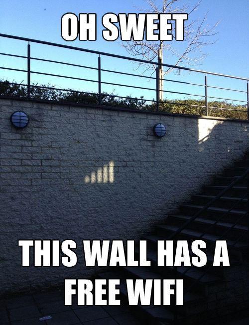 Muur met gratis wifi