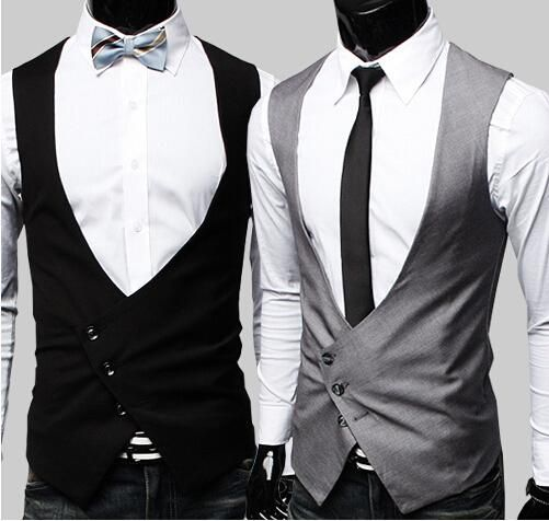 Men'S Vests 2016 Fashion V Neck Slim Cotton New Spring M Xl Sleeveless Black Gray Casual Waistcoats Men Clothing Pwy15 From Xinying2016, $20.92 | Dhgate.Com