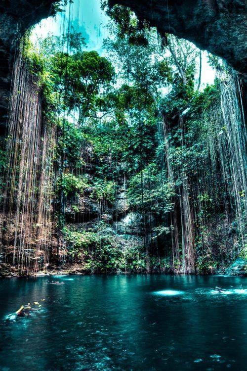 Cenote Ik Kil, Yucatán, #Mexico