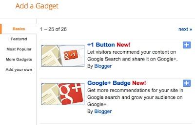 Nuevos gadgets en Blogger