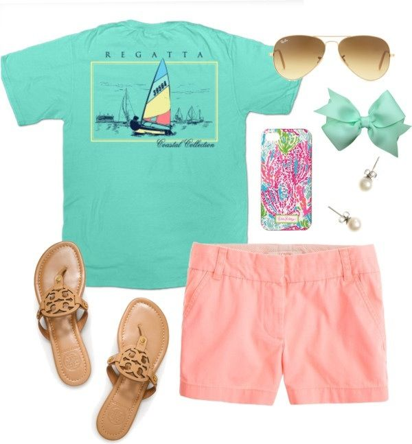 Preppy casual. Love this! But i would do jack rogers