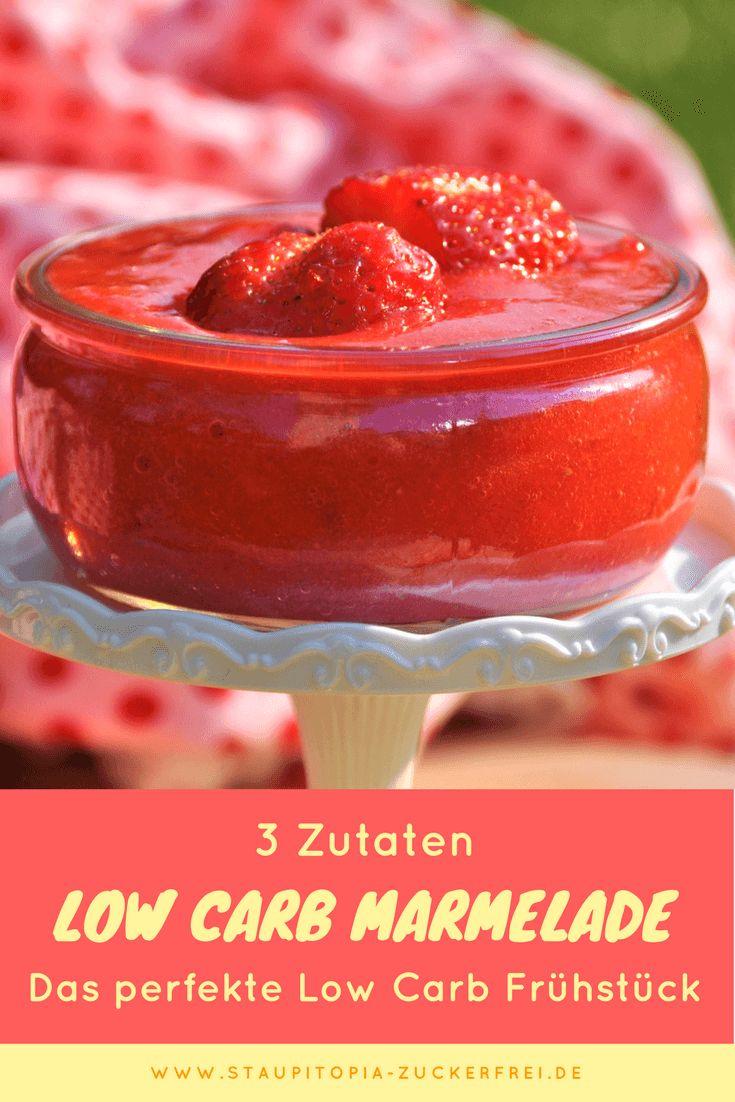 So kannst du Low Carb Marmelade mit nur 3 Zutaten selber machen! In nicht mehr als 5 Minuten ist diese Low Carb Marmelade fertig und dein gesundes Frühstück ohne Kohlenhydrate ein echter Genuss! Hol dir jetzt das Rezept auf www.staupitopia-zuckerfrei.de #lowcarbmarmelade #lowcarbfrühstück #marmelade #staupitopia #3zutaten