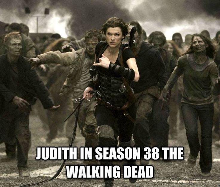 images of an older Judith Grimes in the Walking Dead comics | Los memes de la quinta temporada de 'The Walking Dead'