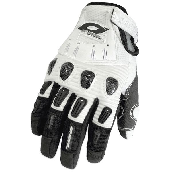 2016 ONeal Butch Carbon Motocross Gloves - White
