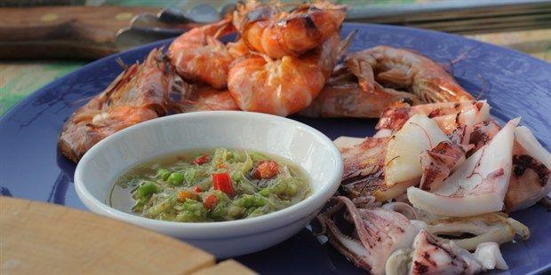 BBQ Prawn & Squid with Nam Jim Sauce