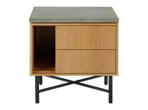 Rena 2 Drawer Bedside table, Mango Wood