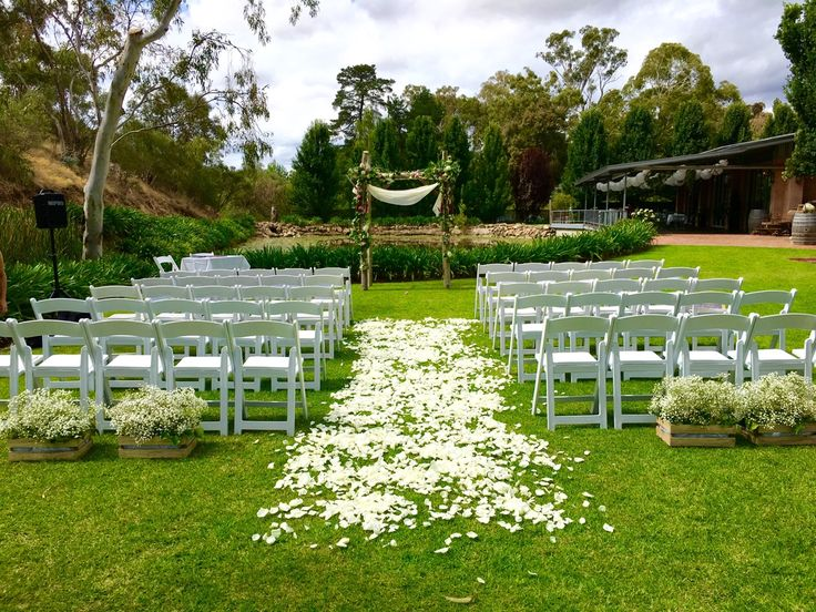 Gatehouse ceremony setup. #GlenEwinEstate #Weddings #bridal #adelaidehills #photos #Gatehouse #weddingvenue #ceremonies
