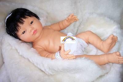 Bestelnr . PR11 Preemie Aziatisch Meisje met kort haar & luier