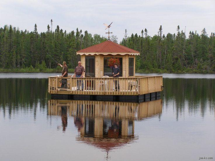 Image result for diy floating bar from old pontoon house