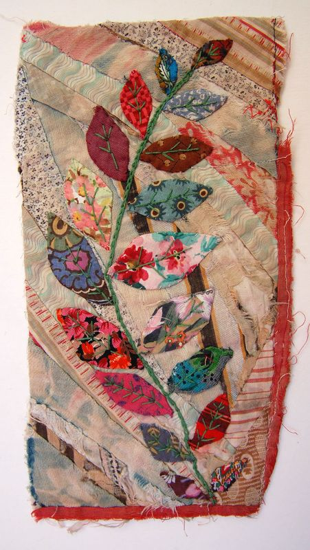 Lovely fabric collage form a site full of ideas in 'my work' !