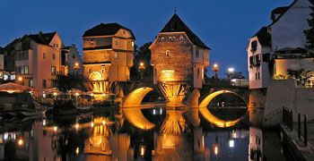 "Bad Kreuznach, Germany - ""The bridge houses, medieval and marvelous on the bridge over the Nahe river."""