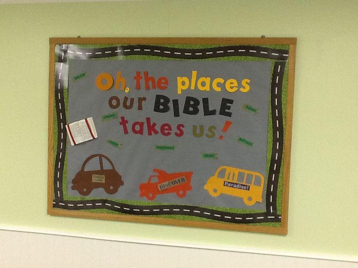 Bulletin board idea from my bible class.