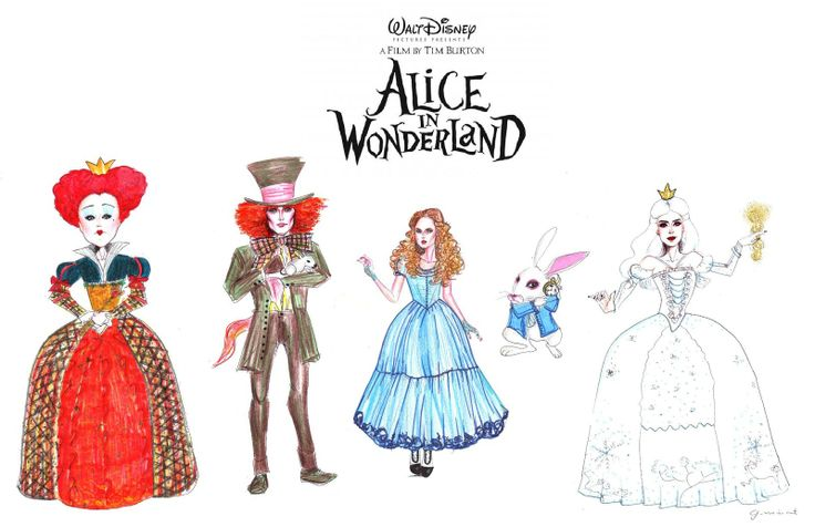 alice in wonderland characters clip art | Alice in ...