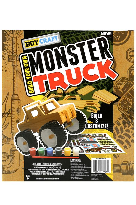 Build Paint And Play With This Monster Truck Kit Super Fun Contains Everything You Need To Your Very Own Even Acti
